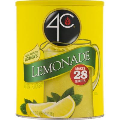 4C Foods Drink Mix, Lemonade