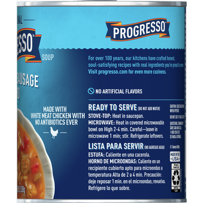 Progresso Traditional, Chicken Sausage Gumbo Soup