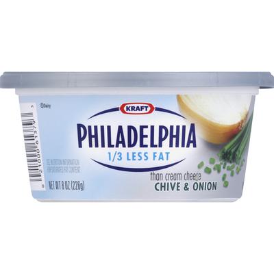 Philadelphia Cream Cheese, Chive & Onion, Reduced Fat
