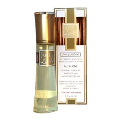 Just Love Oil, Massage & Moisturizing, Ceylon Cinnamon, All in One, Pure & Natural, Box