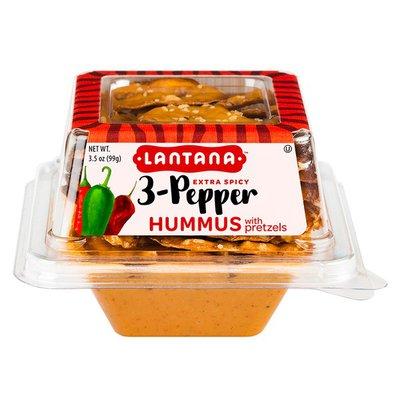 Lantana Hummus, Extra Spicy, 3-Pepper