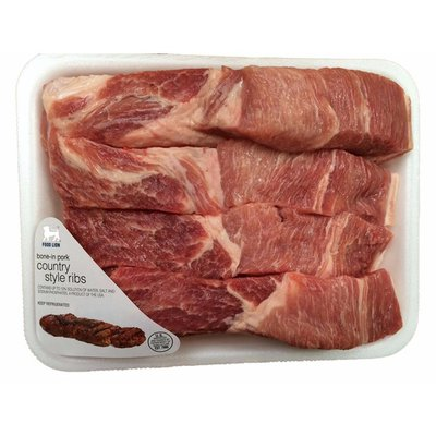 Food Lion Bone-In Pork Country Style Ribs