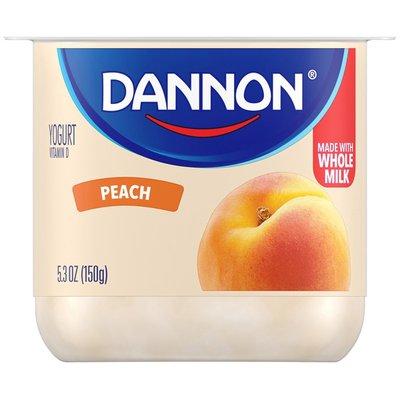 Dannon Blended Peach Yogurt