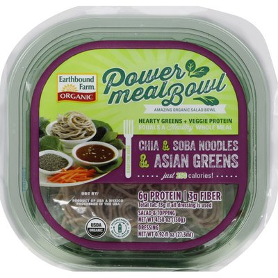 Earthbound Farms Salad Bowl, Organic, Chia & Soba Noodles & Asian Greens