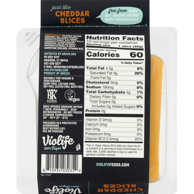 Violife Vegan Cheddar Cheese Slices
