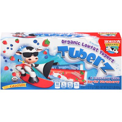 Horizon Organic Tuberz Surfin' Strawberry & Blueberry Wave Organic Lowfat Yogurt