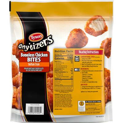 Tyson Any'tizers Buffalo Style Boneless Chicken Bites