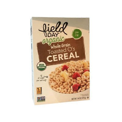 Field Day Organic Whole Grain Toasted O's Cereal