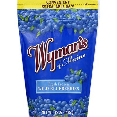 Wyman's Blueberries, Wild, Fresh Frozen
