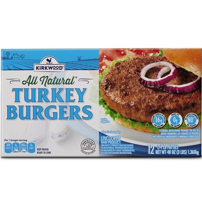 Kirkwood All Natural Turkey Burgers