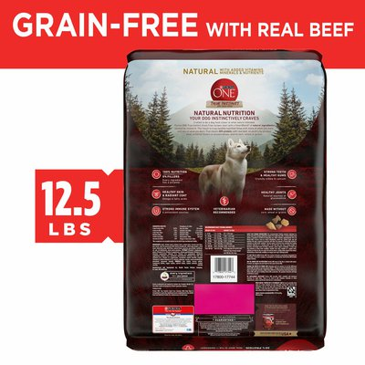 Purina ONE Grain Free Natural Dry Dog Food, True Instinct With Real Beef