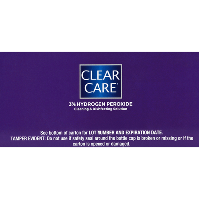 CLEAR CARE Cleaning & Disinfecting Solution, Triple Action Cleaning, Twin Pack