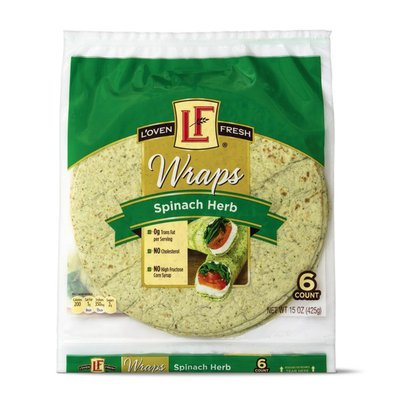 L'oven Fresh Spinach Wraps