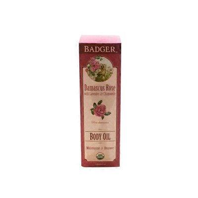 Badger Damascus Rose With Lavender & Chamomile Body Oil