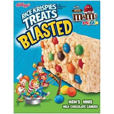 Kellogg's Rice Krispies Treats Blasted M&M's Minis Crispy Marshmallow Squares