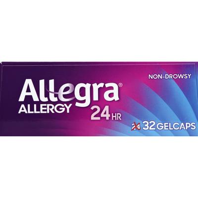 Allegra Allergy, 24 Hr, 180 mg, Gelcaps