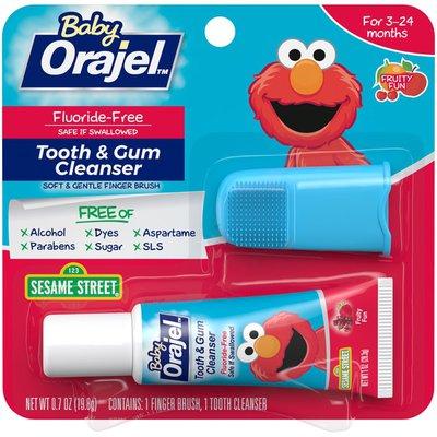 Orajel Sesame Street Fruity Fun Tooth & Gum Cleanser