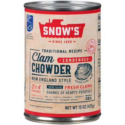 Snow's Traditional Recipe New England Style Condensed Clam Chowder