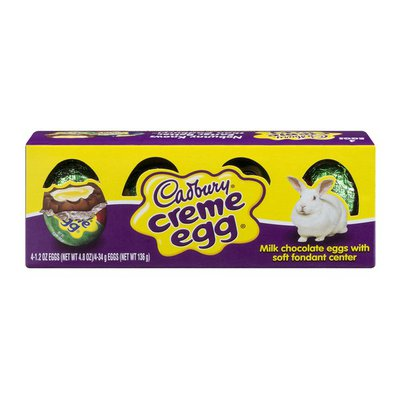 Cadbury Candy, Creme Egg, 4 Pack