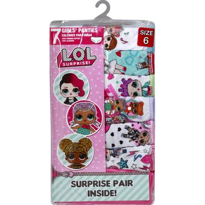 HandCraft Panties, Girls', Size 6, LOL Surprise