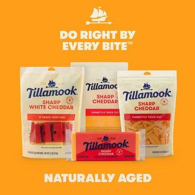 Tillamook Farmstyle Thick Cut Sharp Cheddar Shredded Cheese