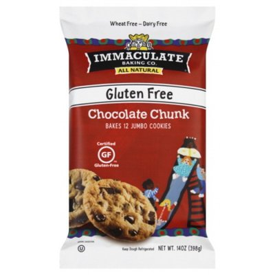Immaculate Baking Chocolate Chunk Cookie Dough, Gluten Free, 12 Cookies