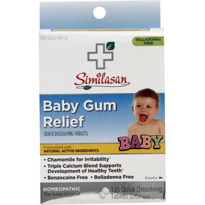 Similasan Baby Gum Relief, Quick Dissolving Tablets