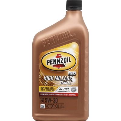 Pennzoil Motor Oil, High Mileage Vehicle, SAE 5W-30