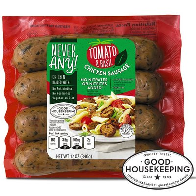 Never Any! Tomato Basil Chicken Sausage