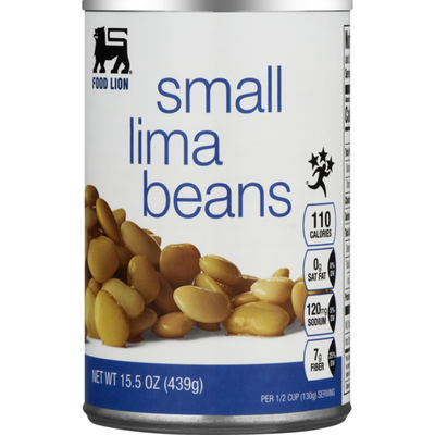Food Lion Lima Beans, Small, Can