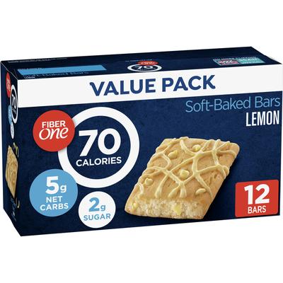 Fiber One Brownies, Lemon, 70 Calories, 5 Net Carbs, Snacks, 12 Count