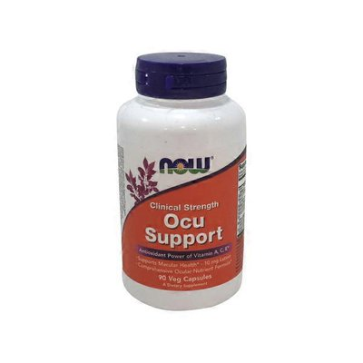 Now Clinical Strength Ocu Support Antioxidant Power of Vitamins A, C, E, Supports Macular Health-Lutein 10 mg, Comprehensive Ocular Nutrient Formula Dietary Supplement Veg Capsules