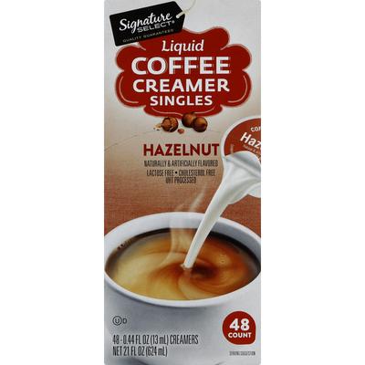 Signature Select Coffee Creamer, Liquid, Hazelnut, Singles
