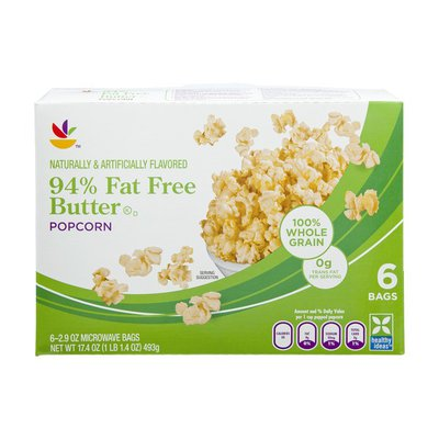 SB 94% Fat Free Microwave Butter Popcorn - 6 CT