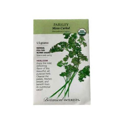 Botanical Interests Organic Moss Curled Parsley Seeds