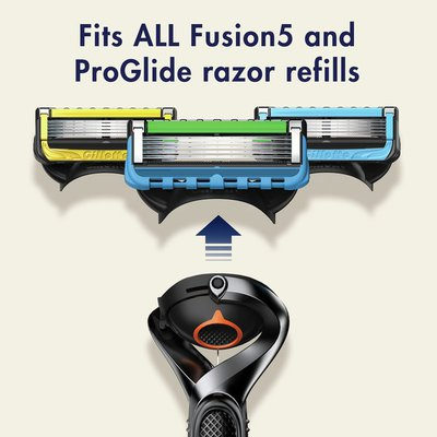 Gillette Proglide Men'S Razor Handle + 2 Blade Refills