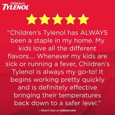 Children's Tylenol Oral Suspension, Grape