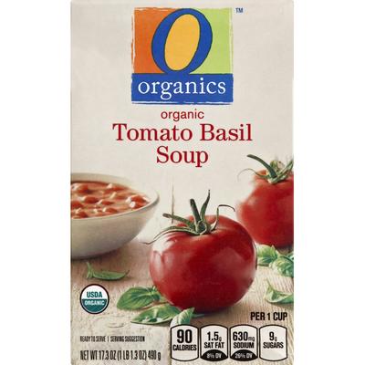 O Organics Soup, Organic, Tomato Basil