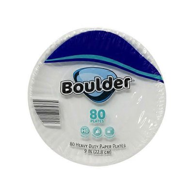 """Boulder 9"""" Heavy Duty Coated Paper Plate"""