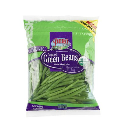 Pero Family Farms Organic Green Beans, Snipped