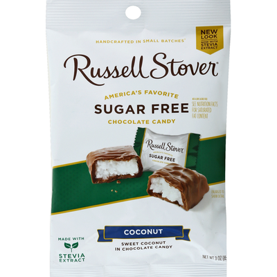 Russell Stover Chocolate Candy, Sugar Free, Coconut