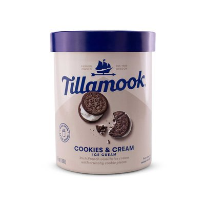 Tillamook Cookies & Cream Ice Cream
