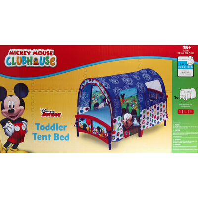 Delta Children Tent Bed, Toddler, Disney Junior Mickey Mouse's Clubhouse, 50 lbs, 15+ Months