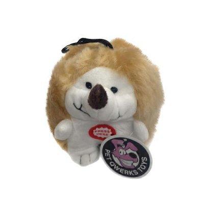 Pet Qwerks Hedgehog Plush Dog Toy