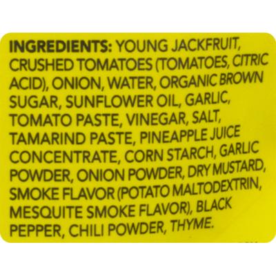 The Jackfruit Company Organic Barbecue