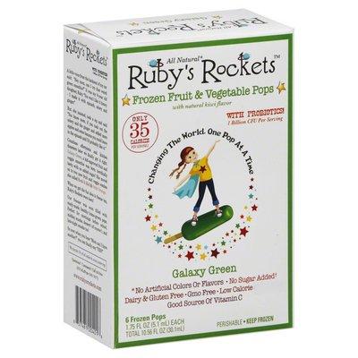 Ruby's Rockets Frozen Fruit & Vegetable Pops, Galaxy Green