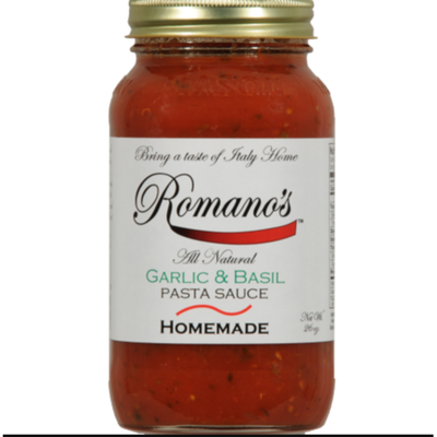 Romano's Garlic & Basil Pasta Sauce