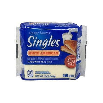 Happy Farms White American Cheese Singles