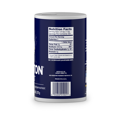 Morton Plain Salt, 26 Ounce