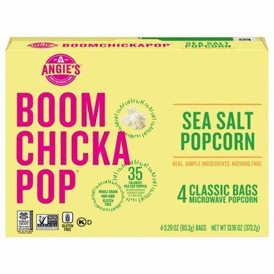 Angie's Sea Salt Microwave Popcorn